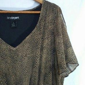 Lane Bryant Dress Size 18 high low short sleeve
